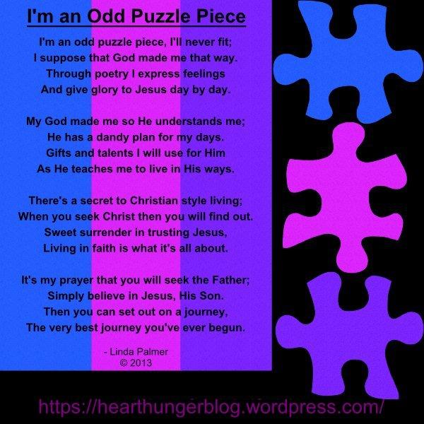 I'M AN ODD PUZZLE PIECE