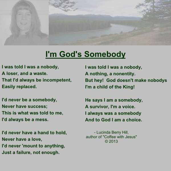 I'M GOD'S SOMEBODY