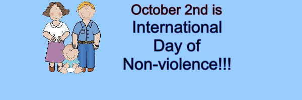 TL 10-2 INTERNATIONAL DAY OF NON-VIOLENCE