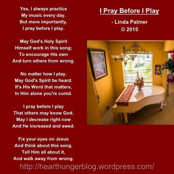 I PRAY BEFORE I PLAY