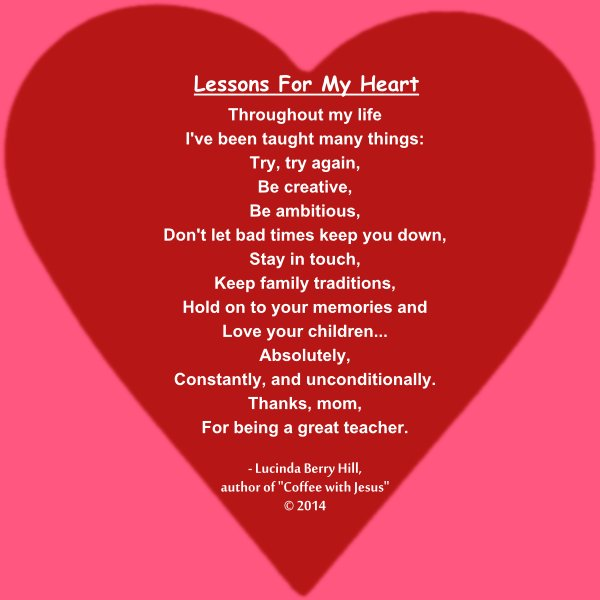 LESSONS FOR MY HEART