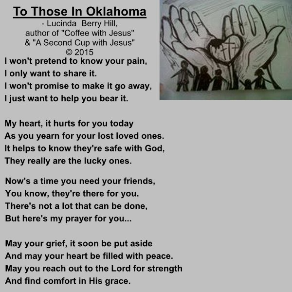TO THOSE IN OKLAHOMA